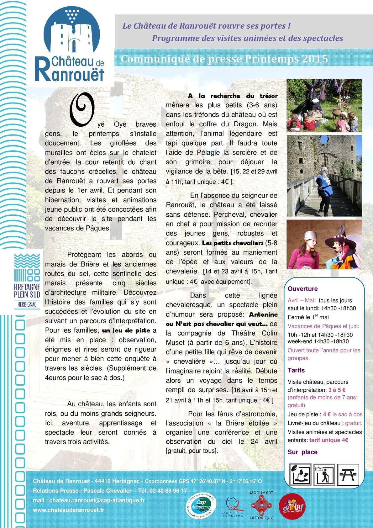 Calaméo - Cp Vacances De Pâques 2015 avec Pelagie La Sorciere