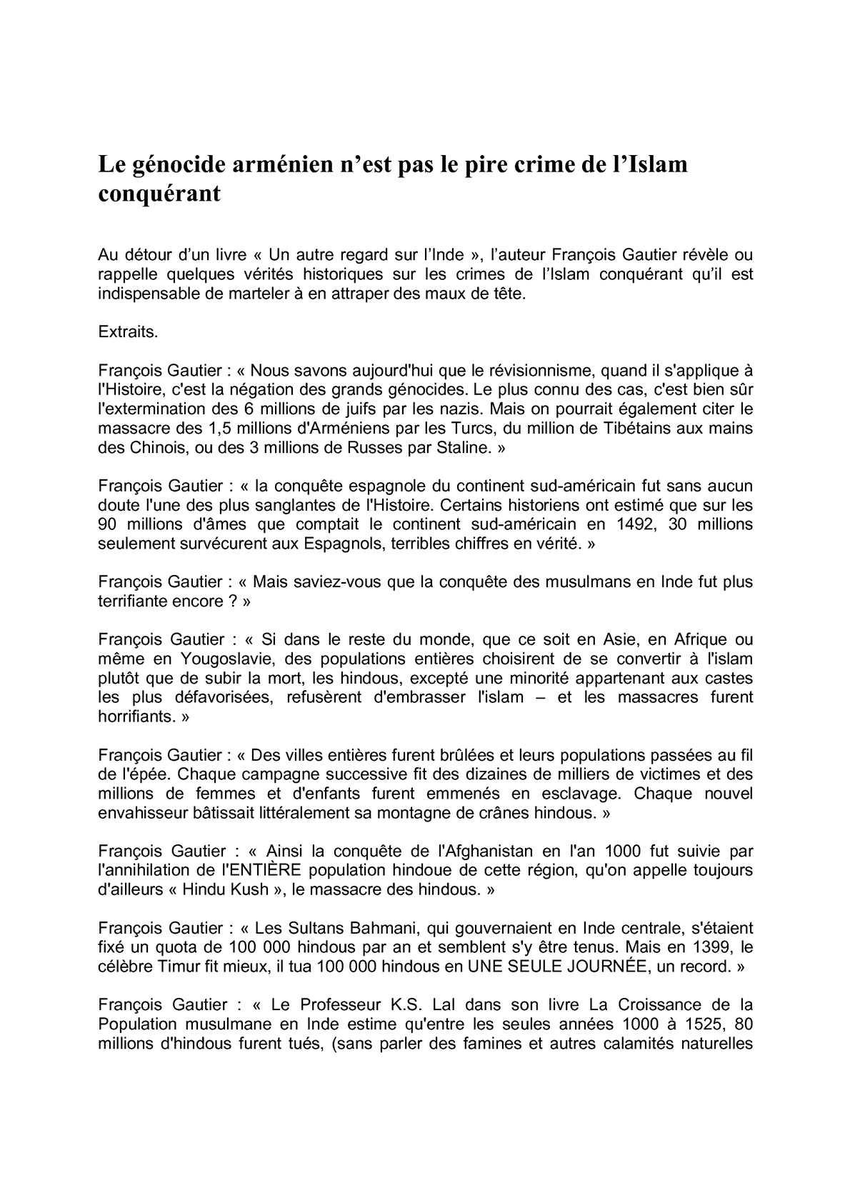 Calaméo - Le Génocide Arménien N'est Pas Le Pire Crime De L serapportantà Chiffres Espagnol 1 À 1000