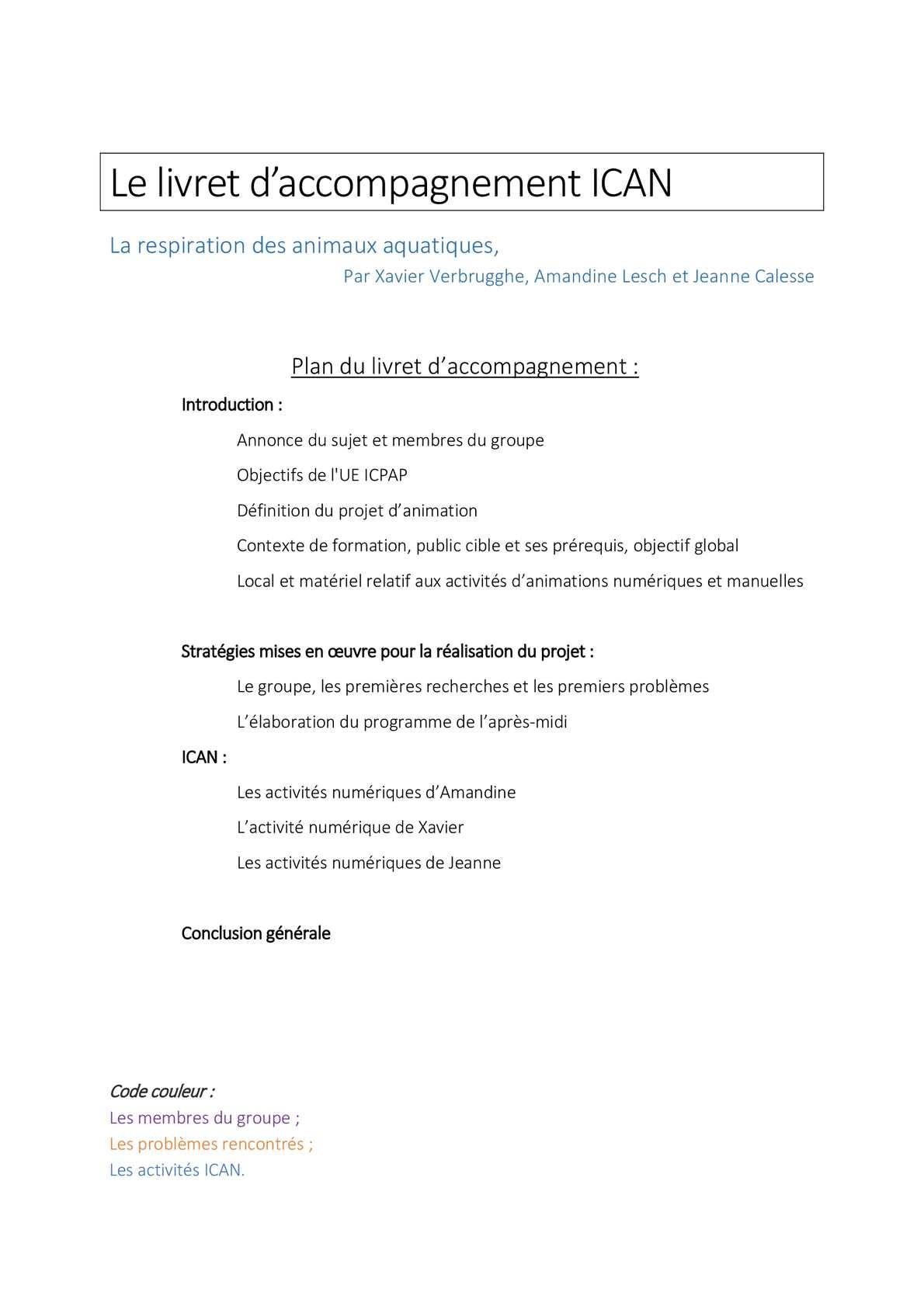 Calaméo - Livret Ican serapportantà Leçon Respiration Cm1