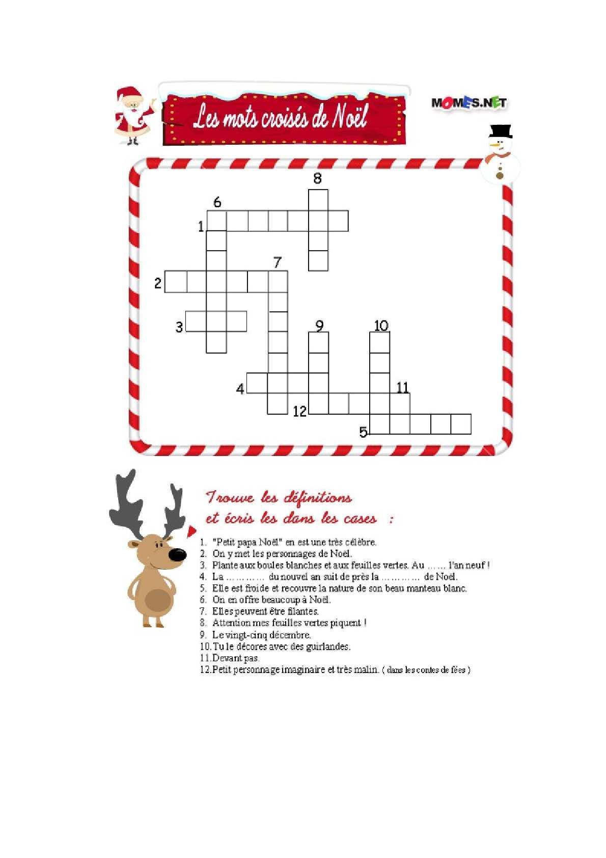 Calaméo - Mots Croisés De Noël serapportantà Mots Croisés Noel