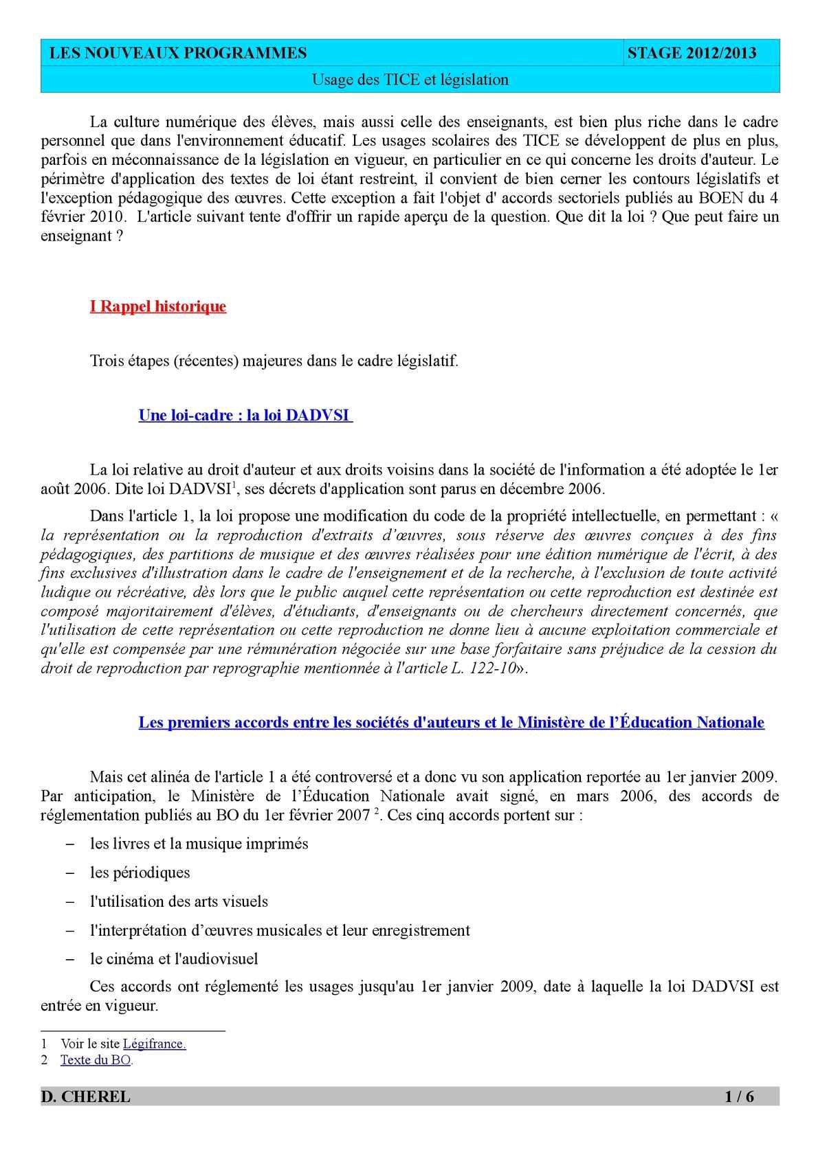 Calaméo - Stage Nvx pour Bo Programmes 2012