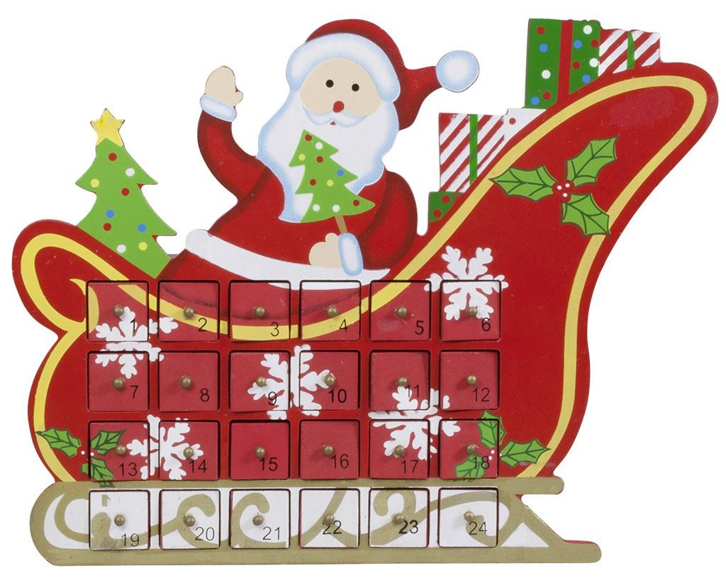 Calendrier De L'avent À Tiroirs En Bois Traîneau De Père Noël concernant Image De Traineau Du Pere Noel