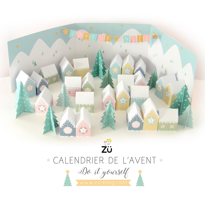 Calendrier De L'avent Diy   Zü – Le Blog dedans Patron De Maison En Papier A Imprimer