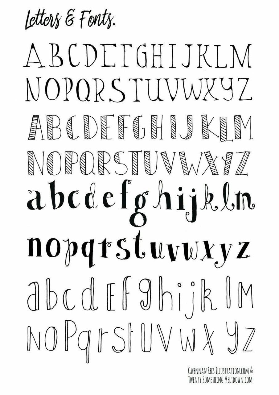 Calligraphie, Bullet Journal And Ecriture - Image #6026101 destiné Image Écriture