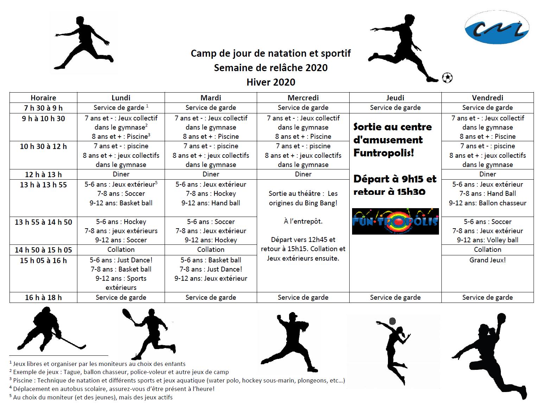 Camp Sportif - Club De Natation Lachine serapportantà Jeux Sportifs 6 12 Ans