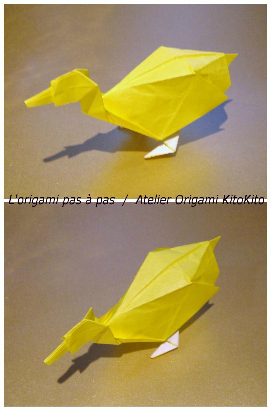 Canard 3D - L'origami Pas À Pas / Atelier Origami Kitokito à Origami Canard
