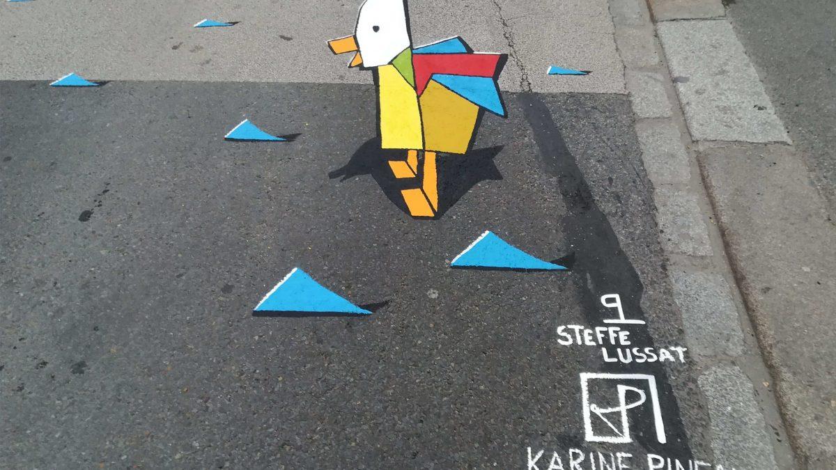 Canards En Anamorphose – Atelier De La Roche Blanche avec Origami Canard