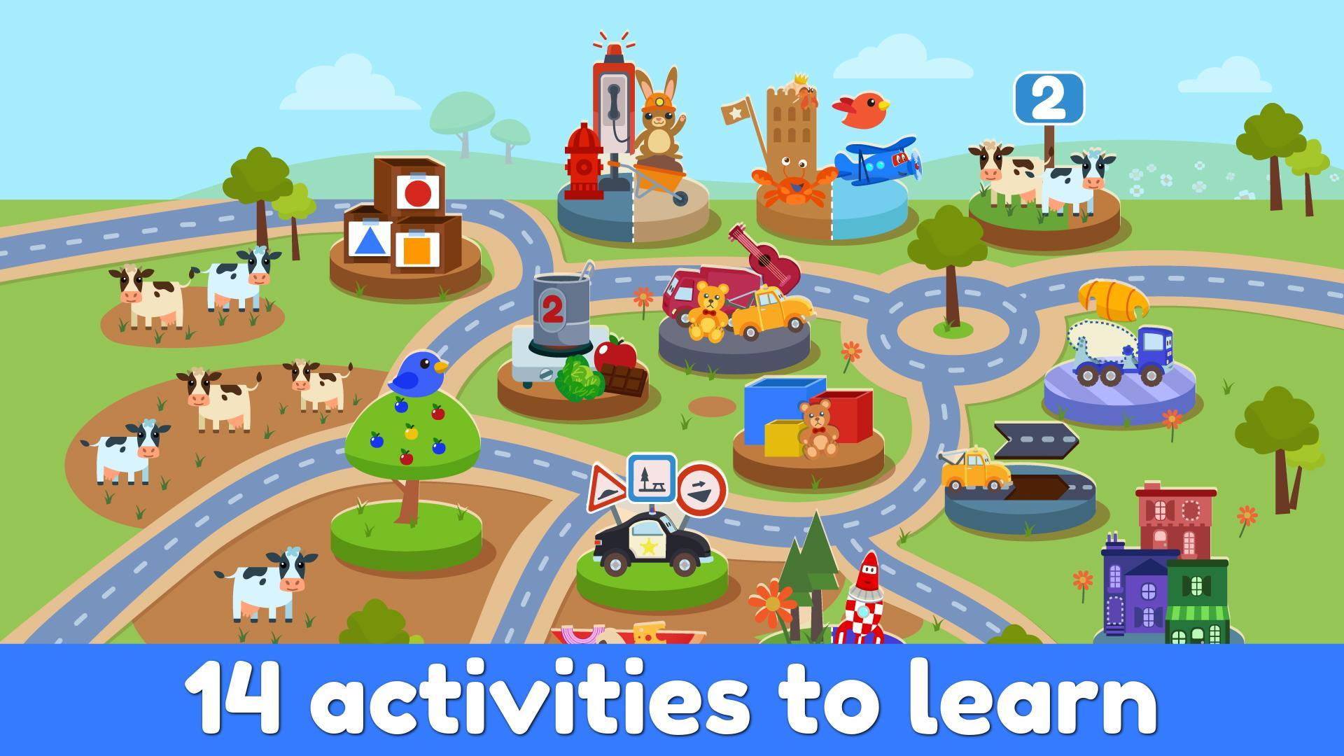 Car City: Jeux Éducatifs Pour Petits Enfants Pour Android destiné Jeux Pour Petit Enfant