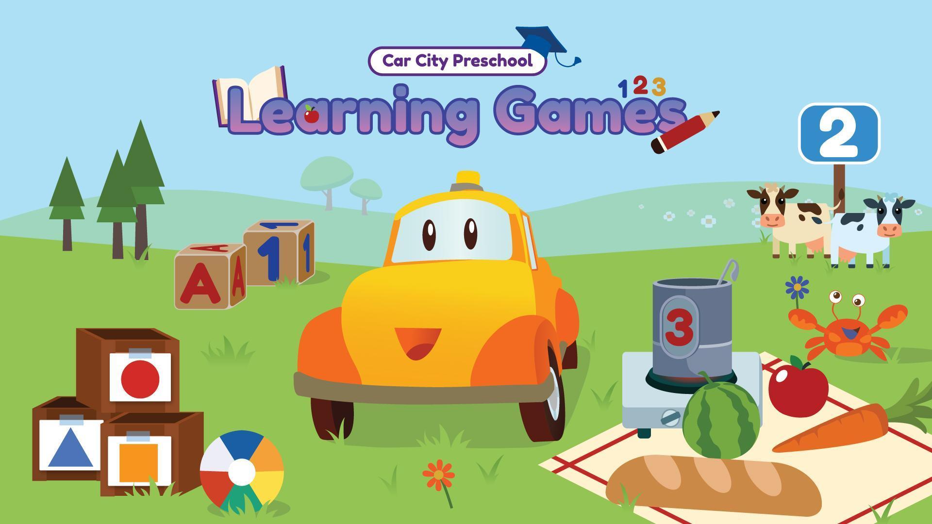 Car City: Jeux Éducatifs Pour Petits Enfants Pour Android intérieur Jeux Pour Petit Enfant