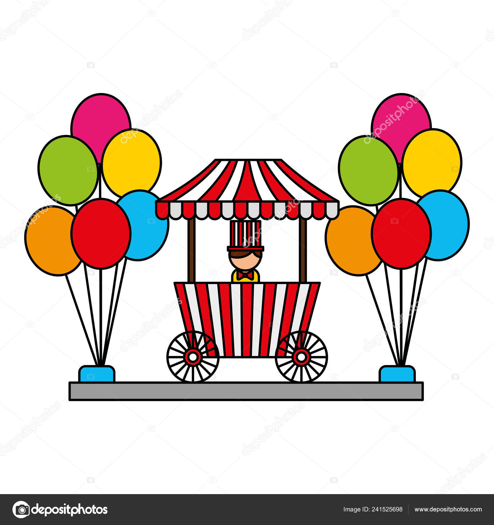 Carnival Fun Fair — Stock Vector © Yupiramos #241525698 avec Dessin De Fete Foraine
