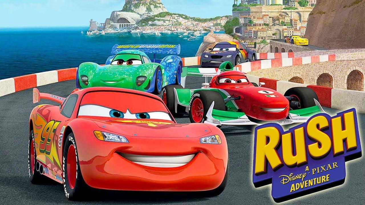 Cars Voiture De Course Jeux Vidéo En Français - Rush Une Aventure Disney  Pixar dedans La Voiture De Course Dessin Animé
