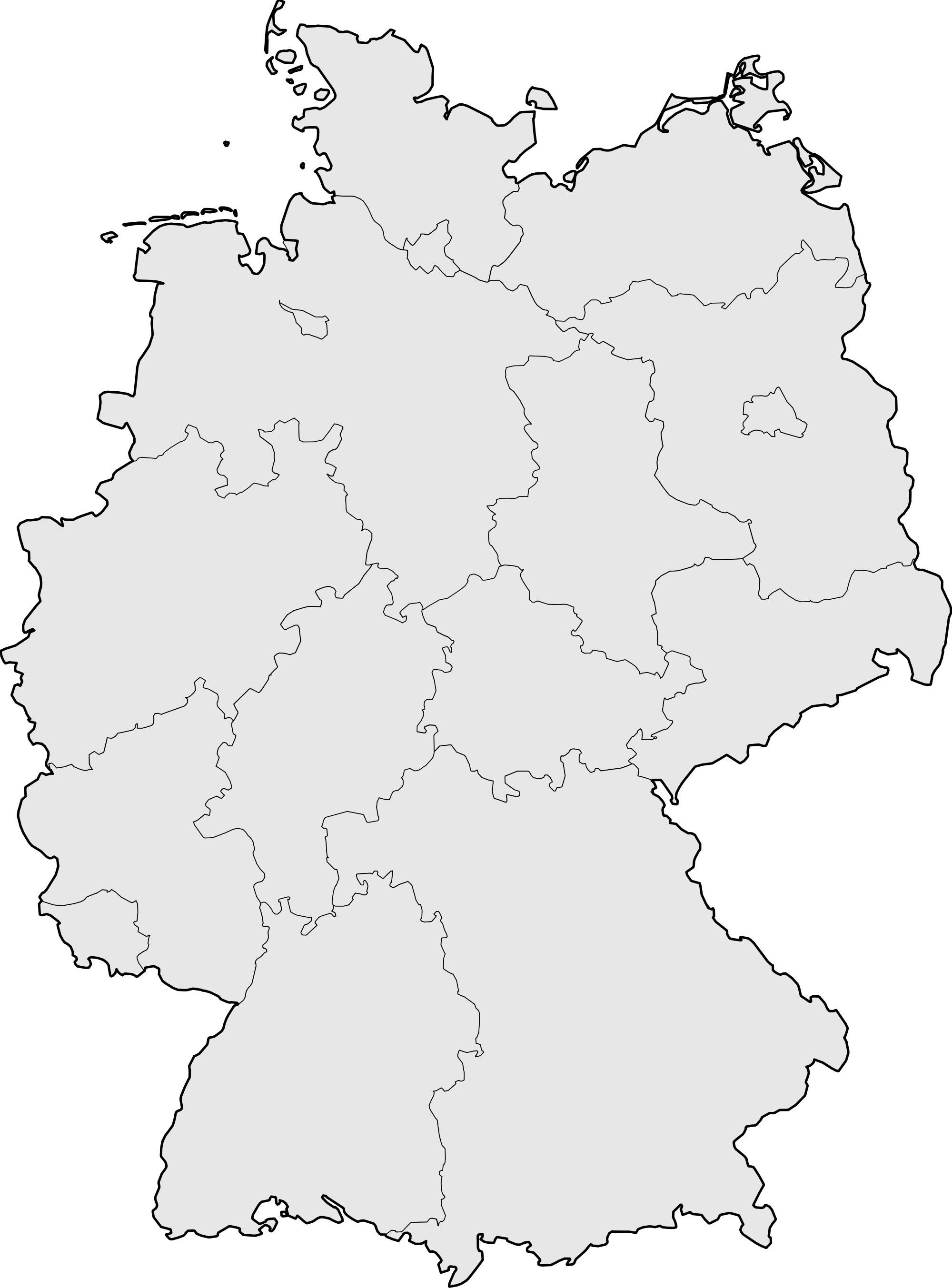 Carte Allemagne Vierge, Carte Vierge De L'allemagne serapportantà Carte Des Régions Vierge