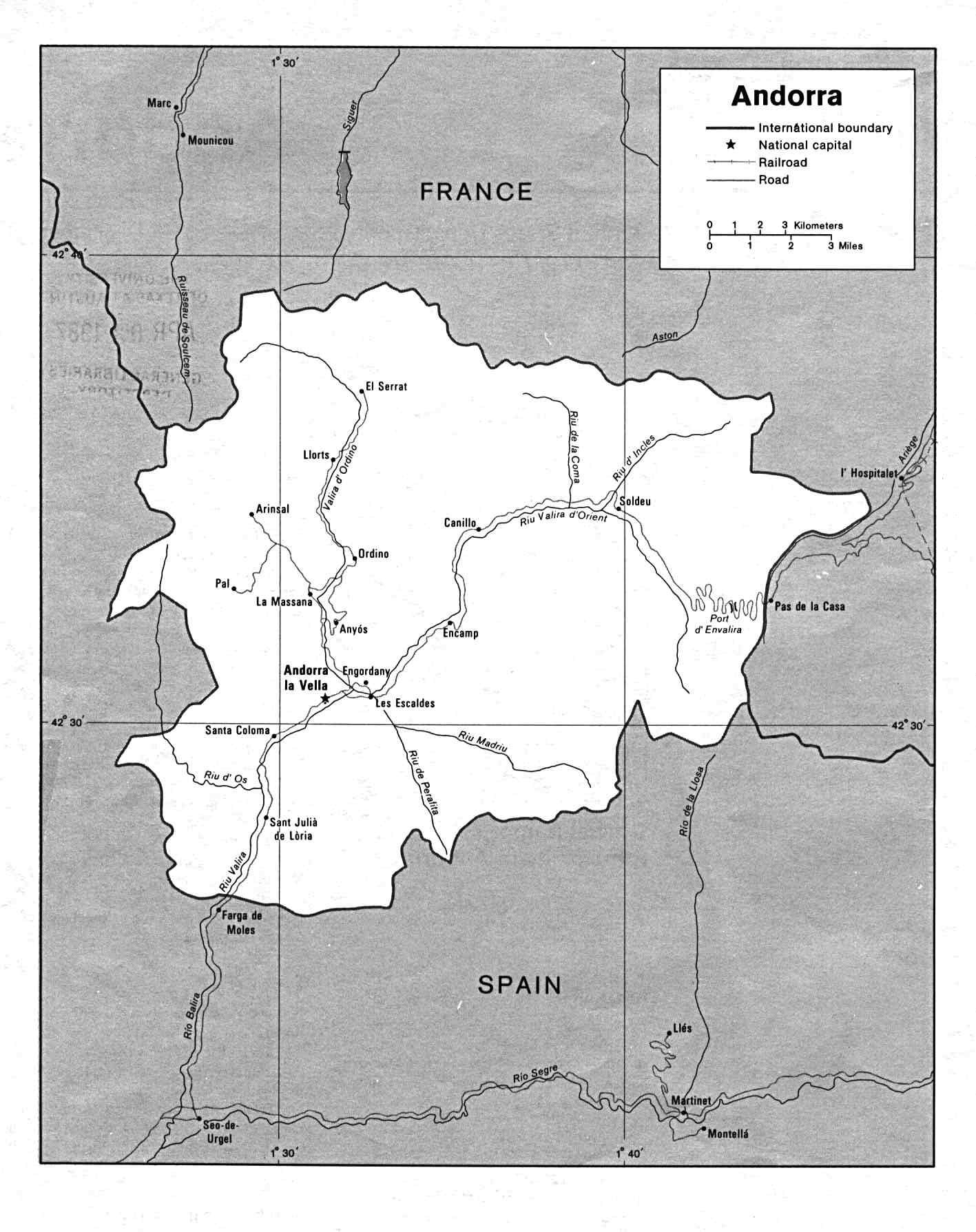 Carte Andorre, Carte De Andorre encequiconcerne Union Européenne Carte Vierge