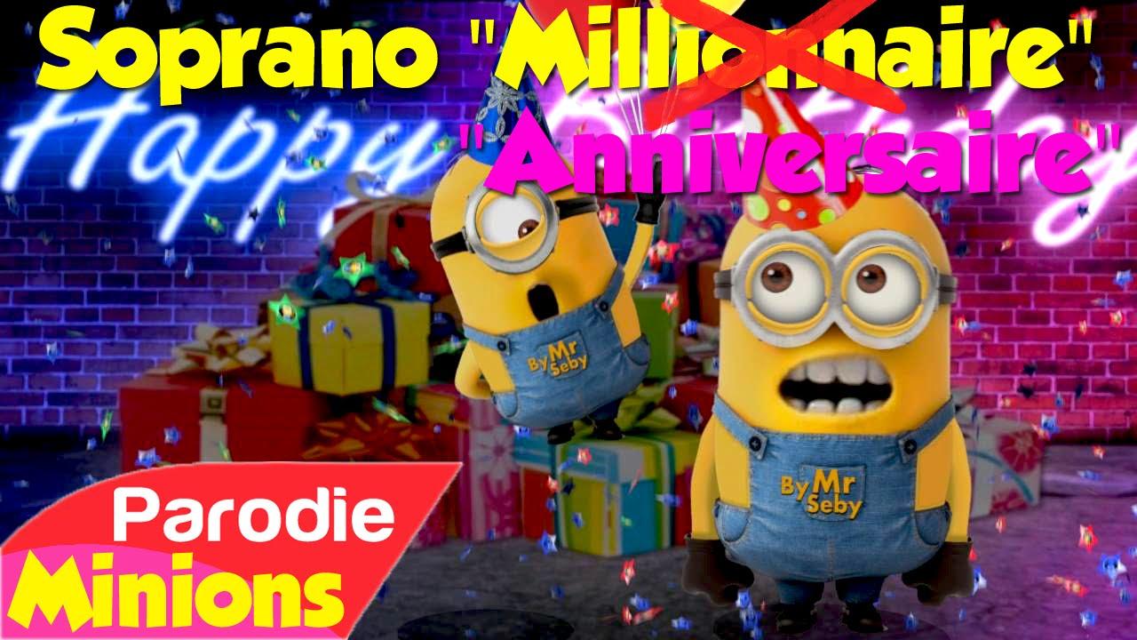 Carte Anniversaire Humour Minions - Jlfavero intérieur Bon Anniversaire Humour Video