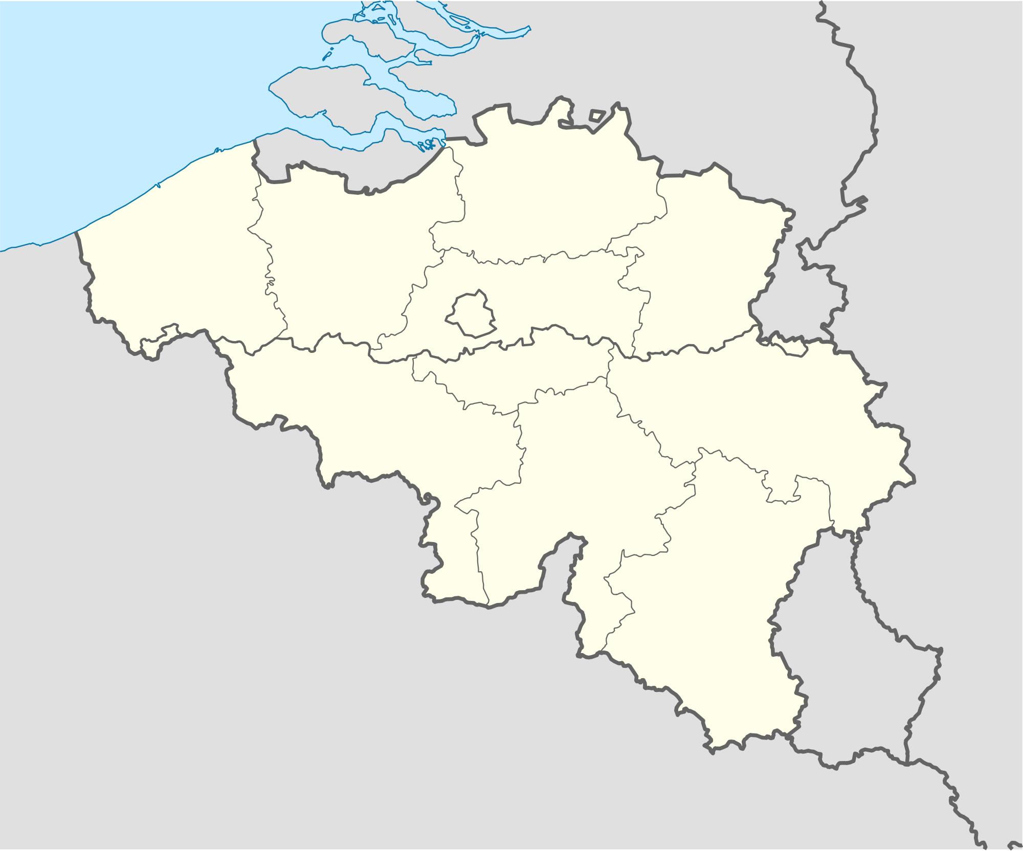 Carte Belgique Vierge Régions, Carte Vierge Des Régions De dedans Carte Des Régions Vierge
