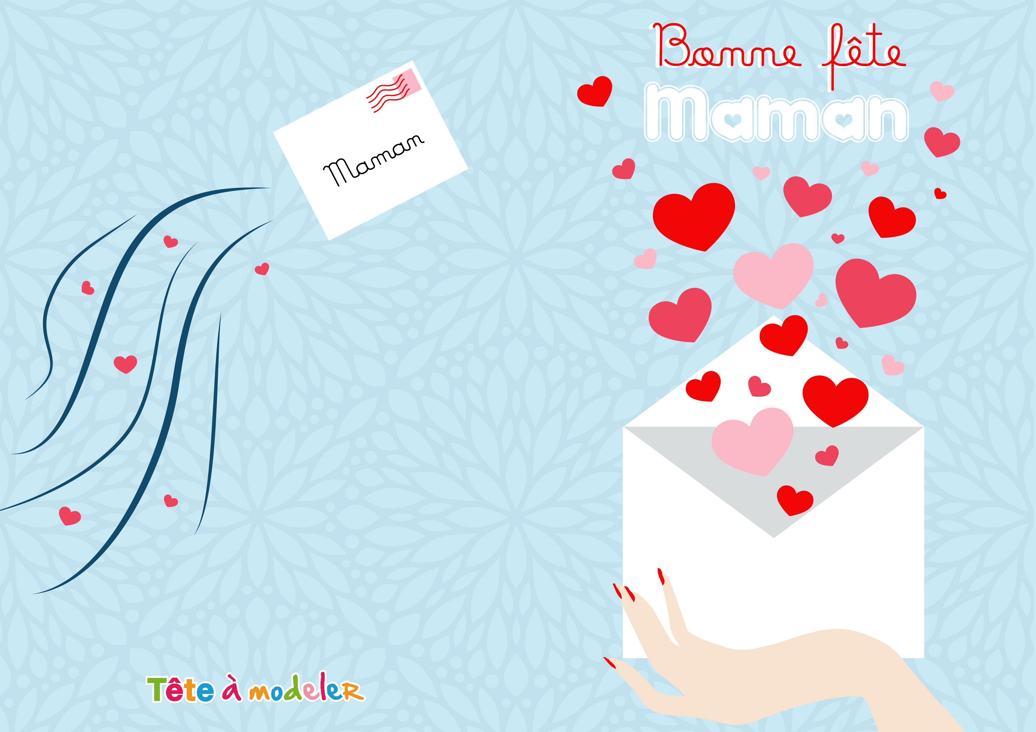 Carte D'amour Fête Des Mères À Imprimer pour Carte Bonne Fete Maman A Imprimer