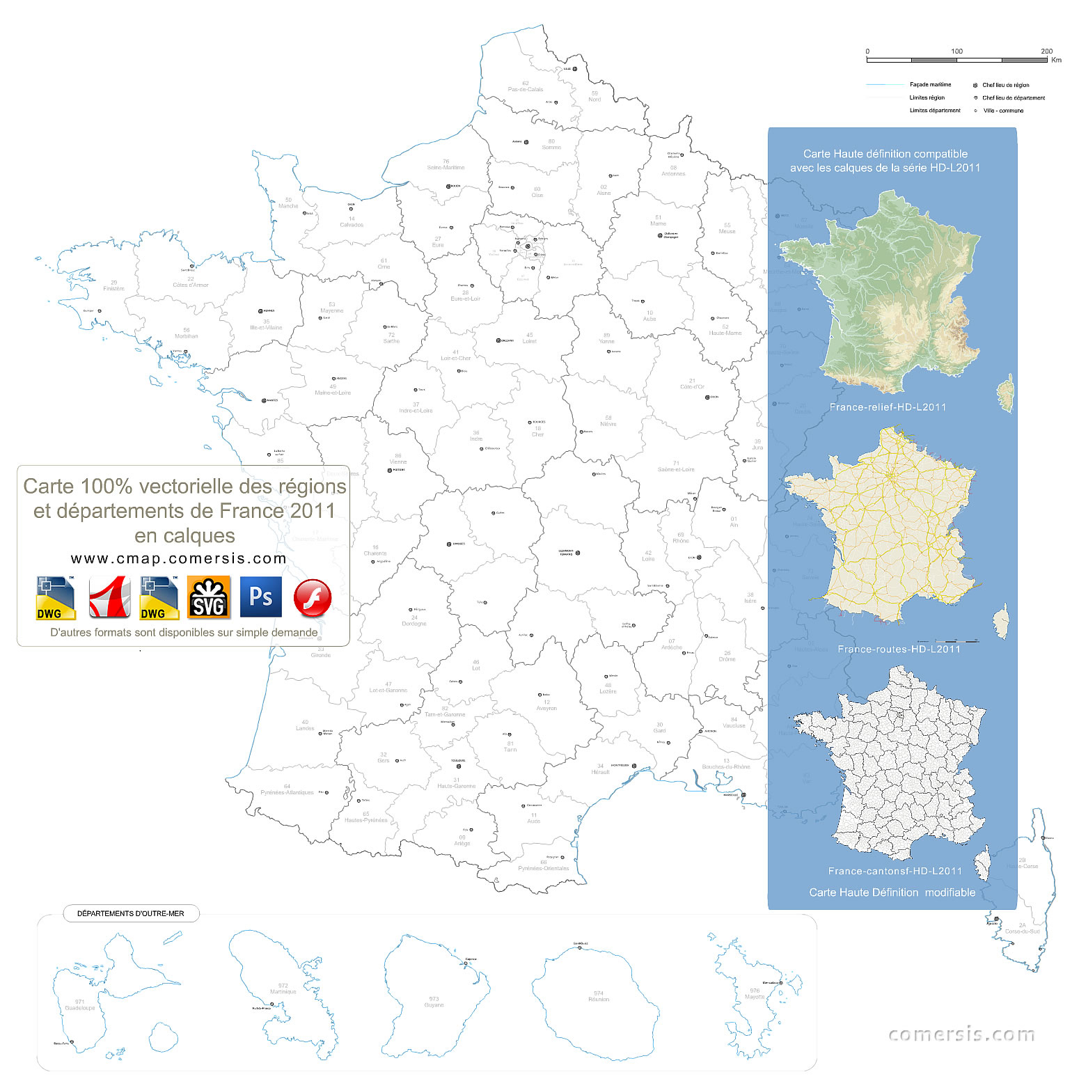 Carte De France à Carte Numero Departement