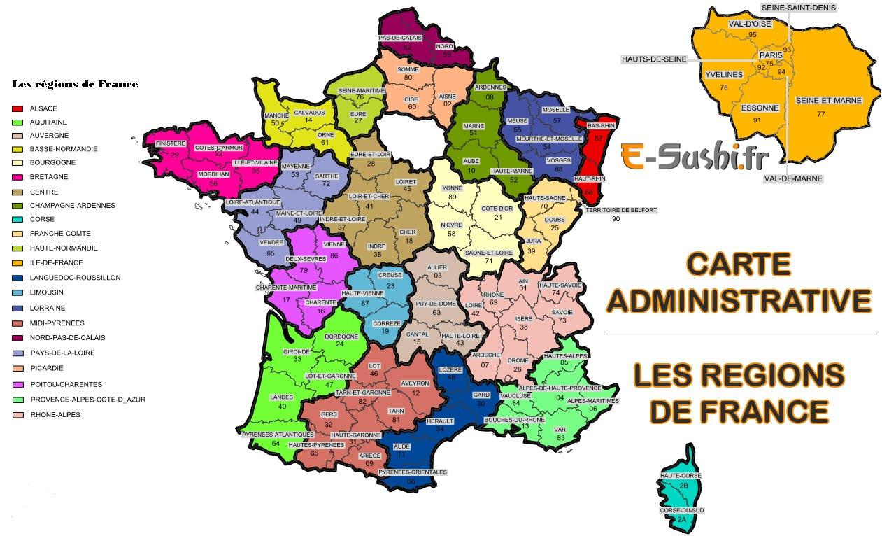 Carte De France Avec Départements Et Régions À Imprimer | My encequiconcerne Imprimer Une Carte De France