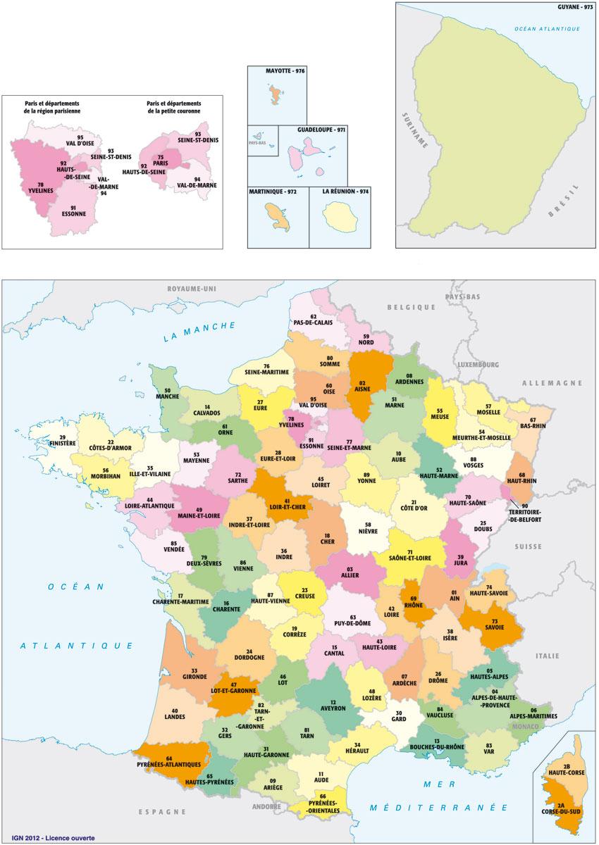 Carte De France: Carte De France À Imprimer Gratuitement tout Carte De France Avec Département À Imprimer
