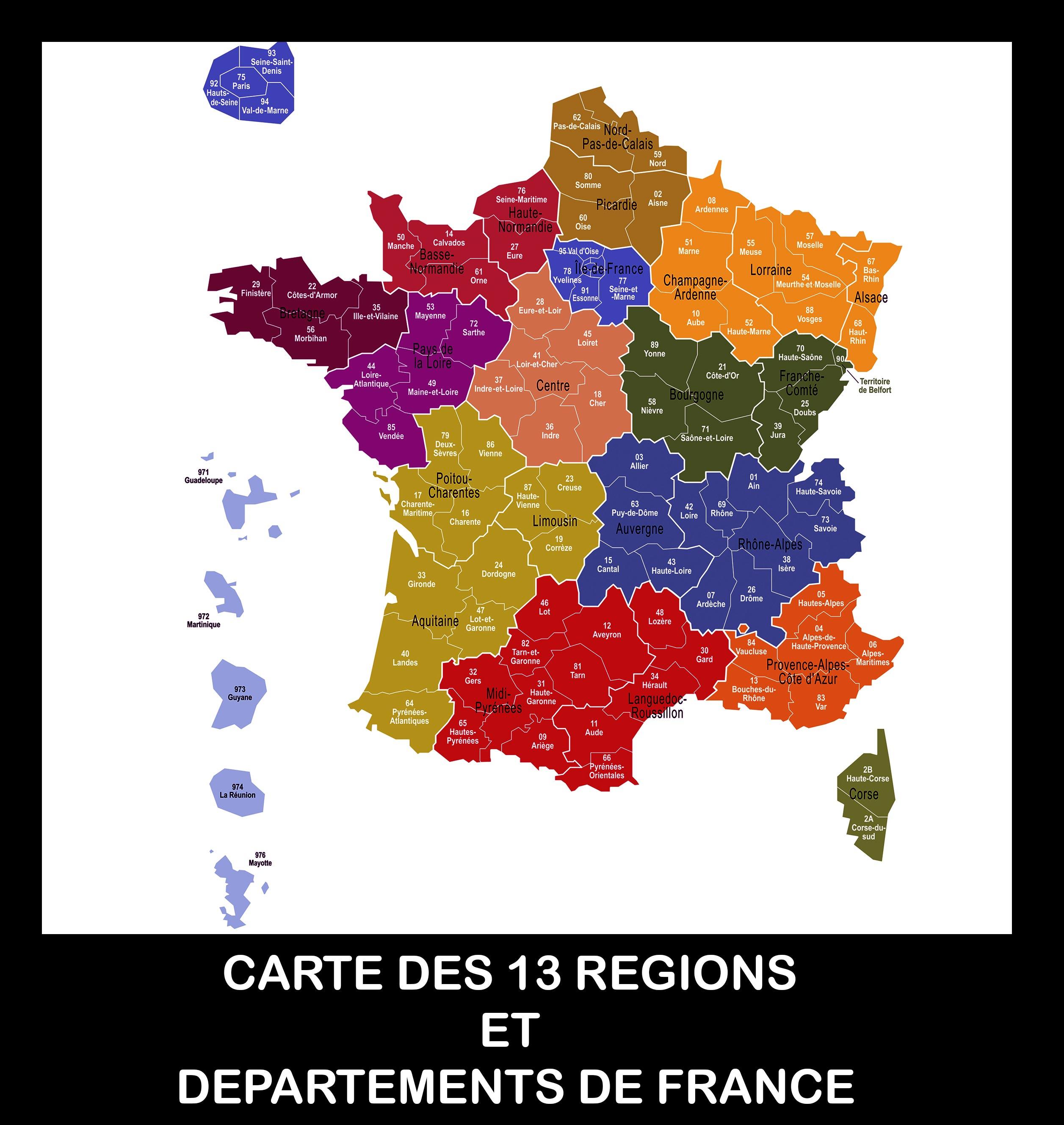 Carte De France Des Régions Images » Vacances - Arts- Guides intérieur Nouvelle Carte Des Régions De France