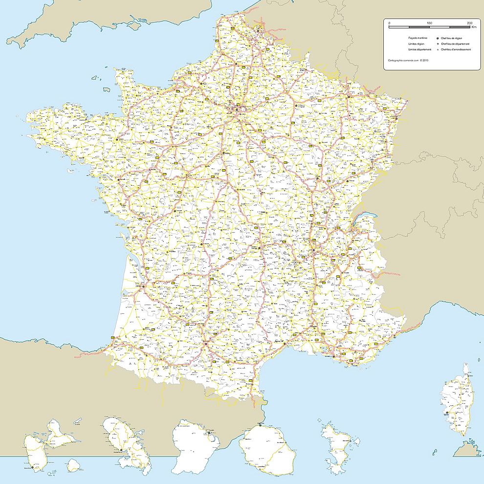 Carte De France Gratuite destiné Imprimer Une Carte De France