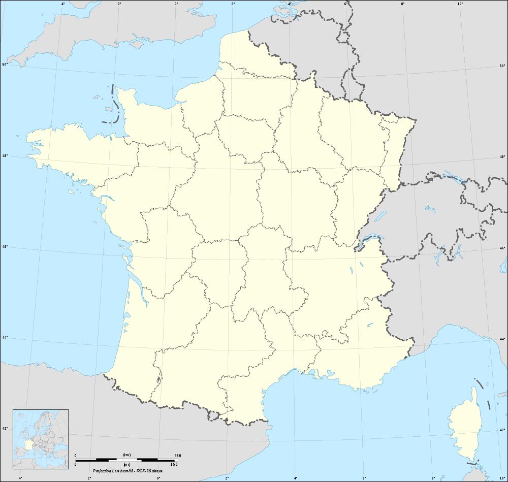 Carte De France Vierge Avec Regions serapportantà Carte Des Régions Vierge