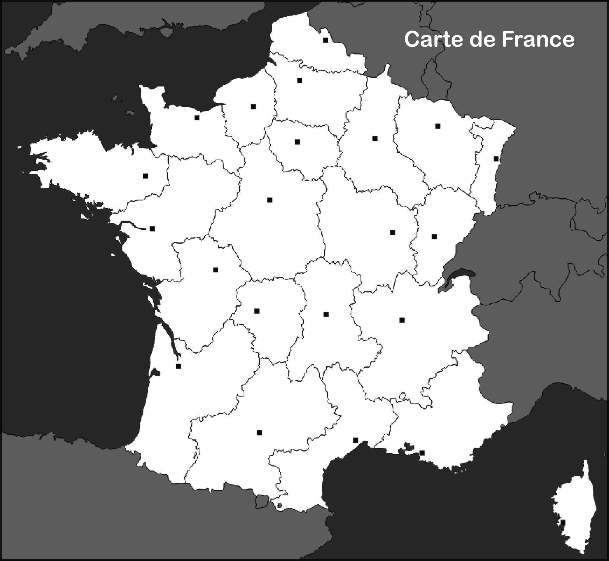 Carte De France Vierge - Voyages - Cartes destiné Carte Des Régions Vierge