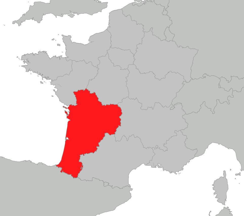 Carte De La Nouvelle-Aquitaine - Nouvelle-Aquitaine Cartes dedans Nouvelle Carte Des Régions De France
