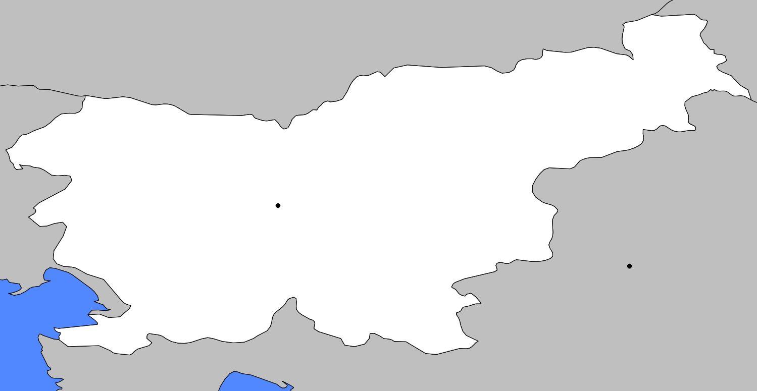 Carte De La Slovénie - Plusieurs Carte Du Pays En Europe concernant Union Européenne Carte Vierge