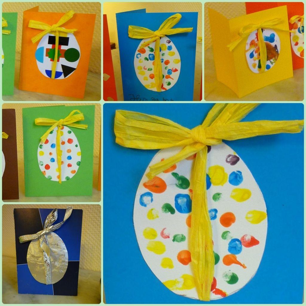 Carte De Pâques,toute Facile | Carte De Paques, Paques concernant Bricolage Pour Paques Maternelle