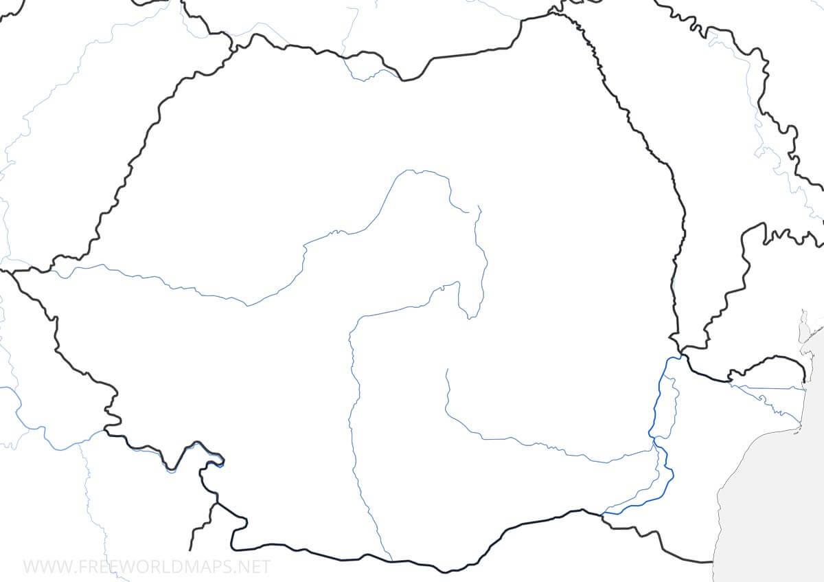 Carte De Roumanie dedans Carte Des Régions Vierge