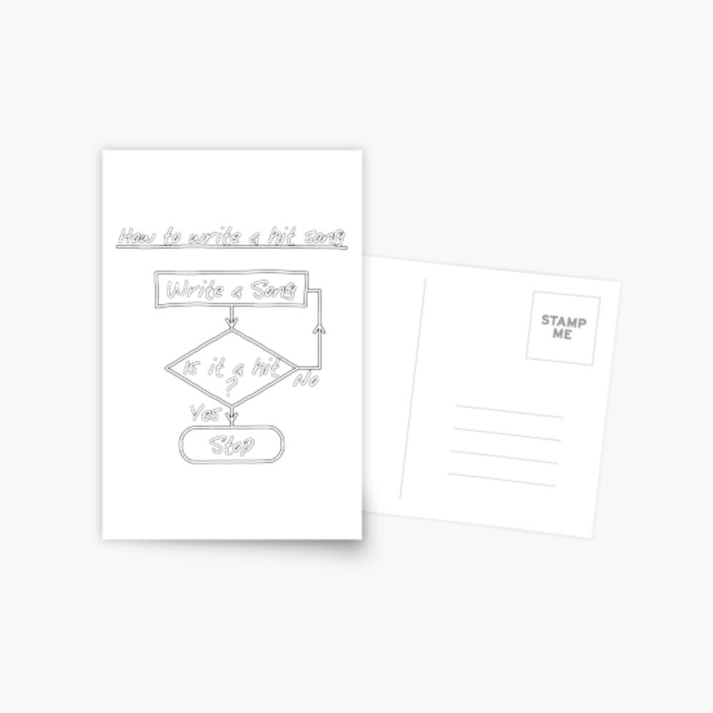 Carte De Vœux « Comment Écrire Une Chanson Frappée [Imprimer intérieur Chanson A Imprimer