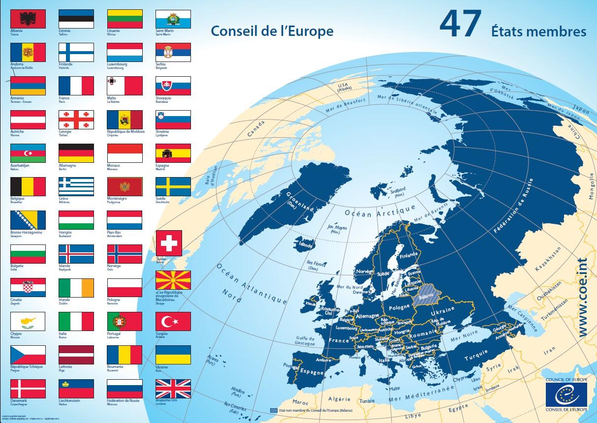 Carte Des 47 États Membres encequiconcerne Union Européenne Carte Vierge