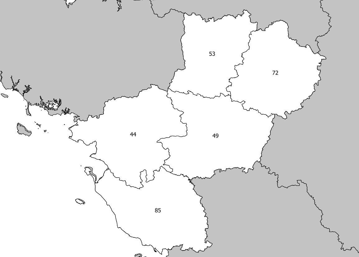 Carte Des Pays De La Loire - Pays De La Loire Carte Des à Carte Des Régions Vierge
