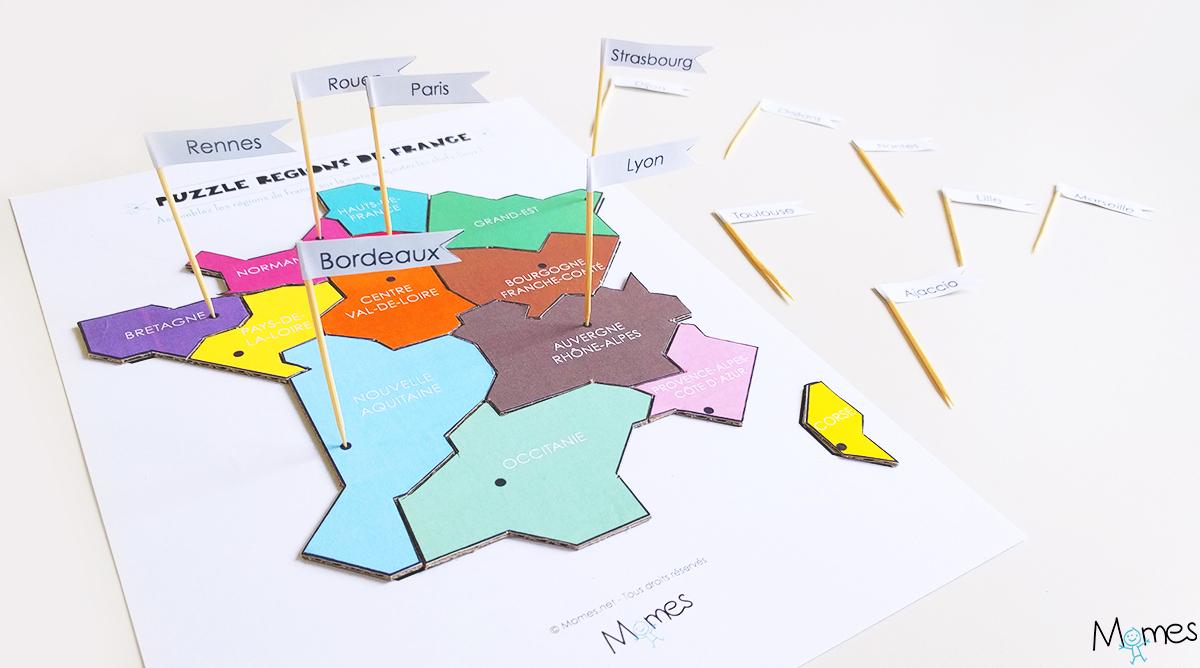 Carte Des Régions De France À Imprimer En Puzzle ! - Momes dedans Carte De France Avec Département À Imprimer