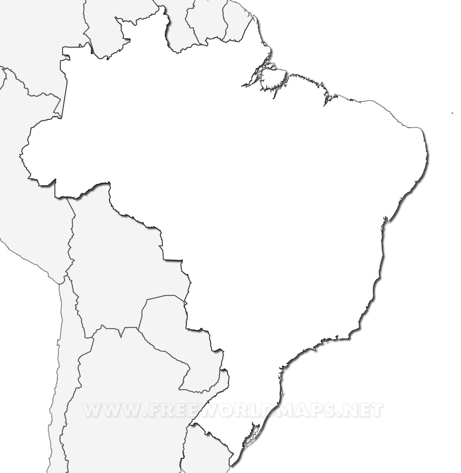 Carte Du Brésil concernant Carte Des Régions Vierge