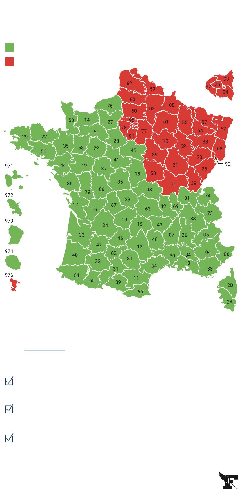 Carte Du Déconfinement : Découvrez Si Votre Département Est avec Carte De France Avec Département À Imprimer