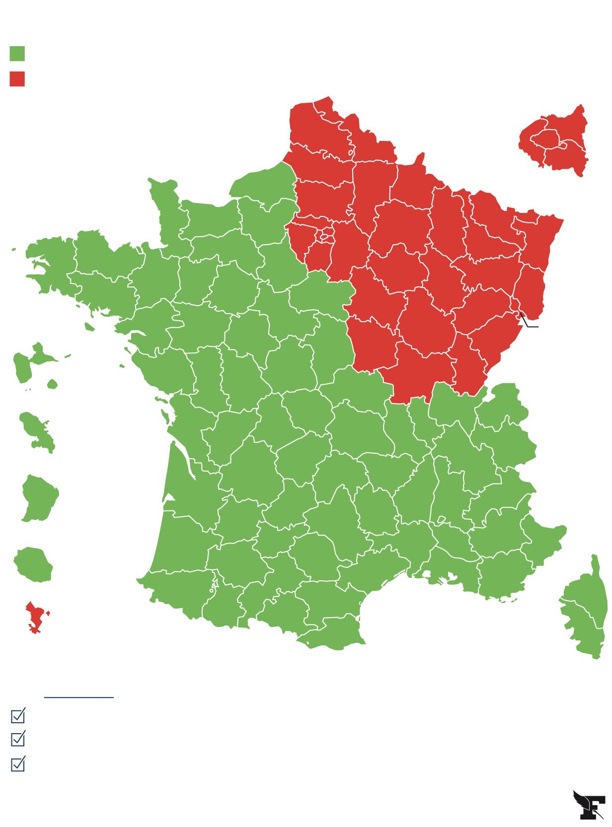 Carte Du Déconfinement : Découvrez Si Votre Département Est intérieur Carte De France Avec Département À Imprimer