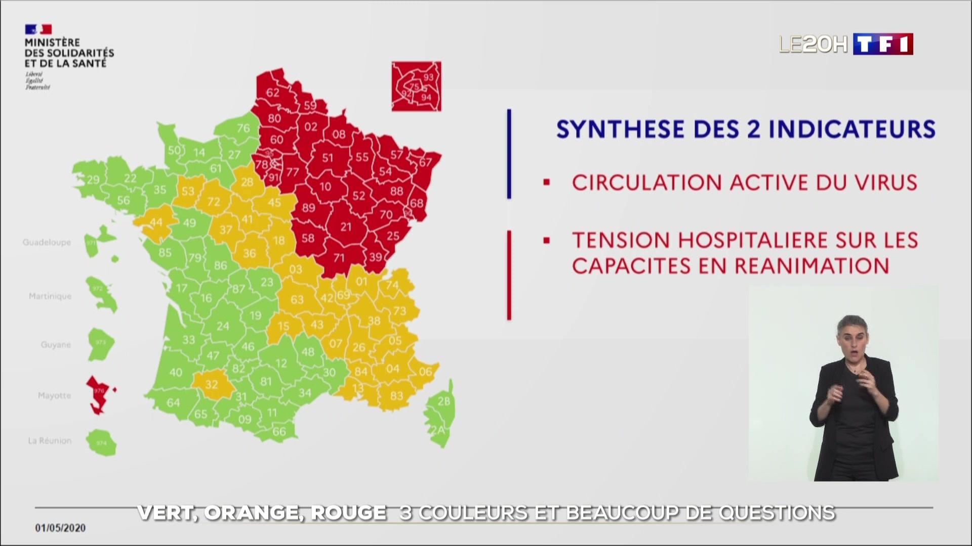 Carte Du Déconfinement : Trois Couleurs Et Beaucoup De Questions à Nouvelle Carte Des Régions De France