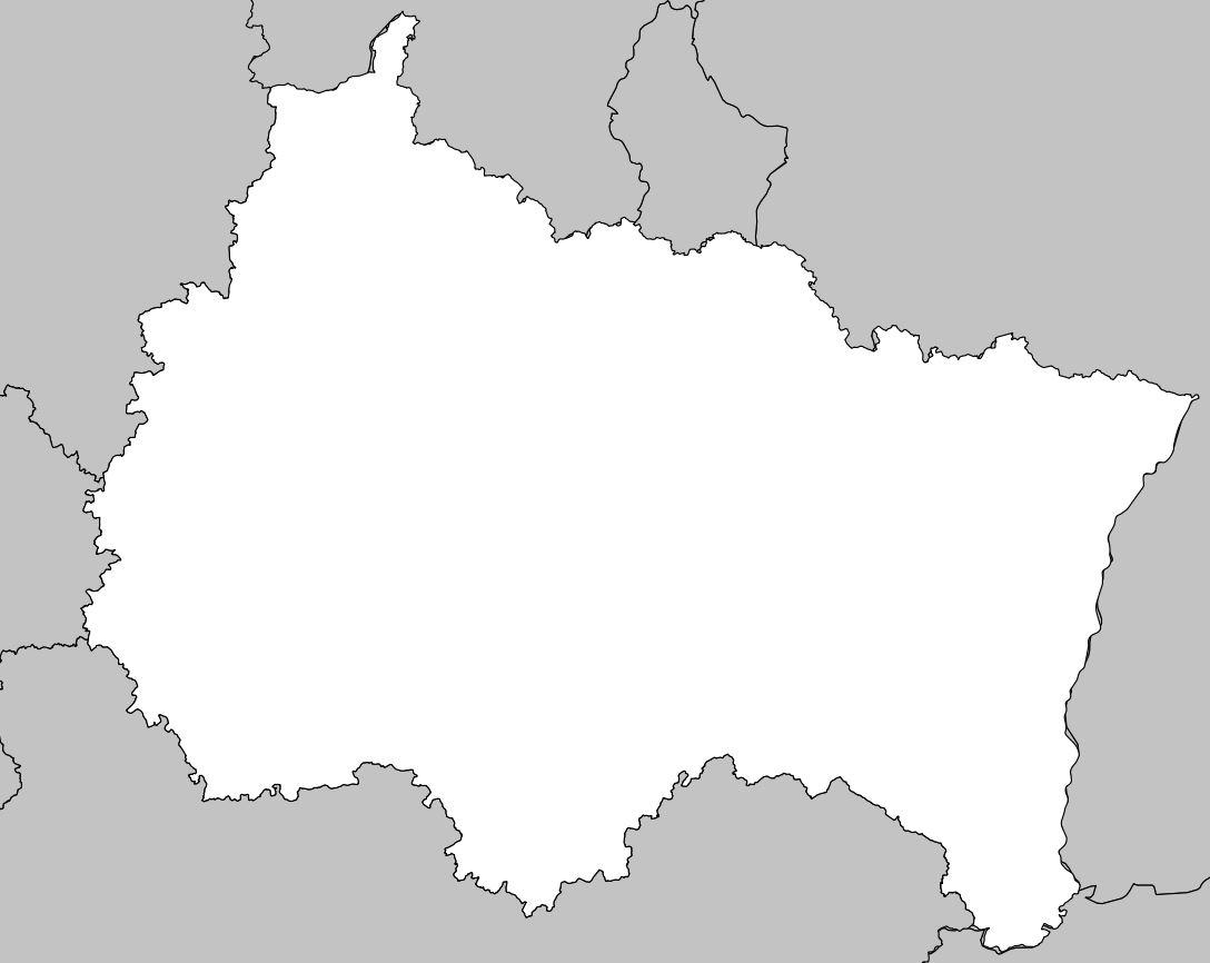 Carte Du Grand Est - Grand Est Carte Des Villes à Carte Des Régions Vierge