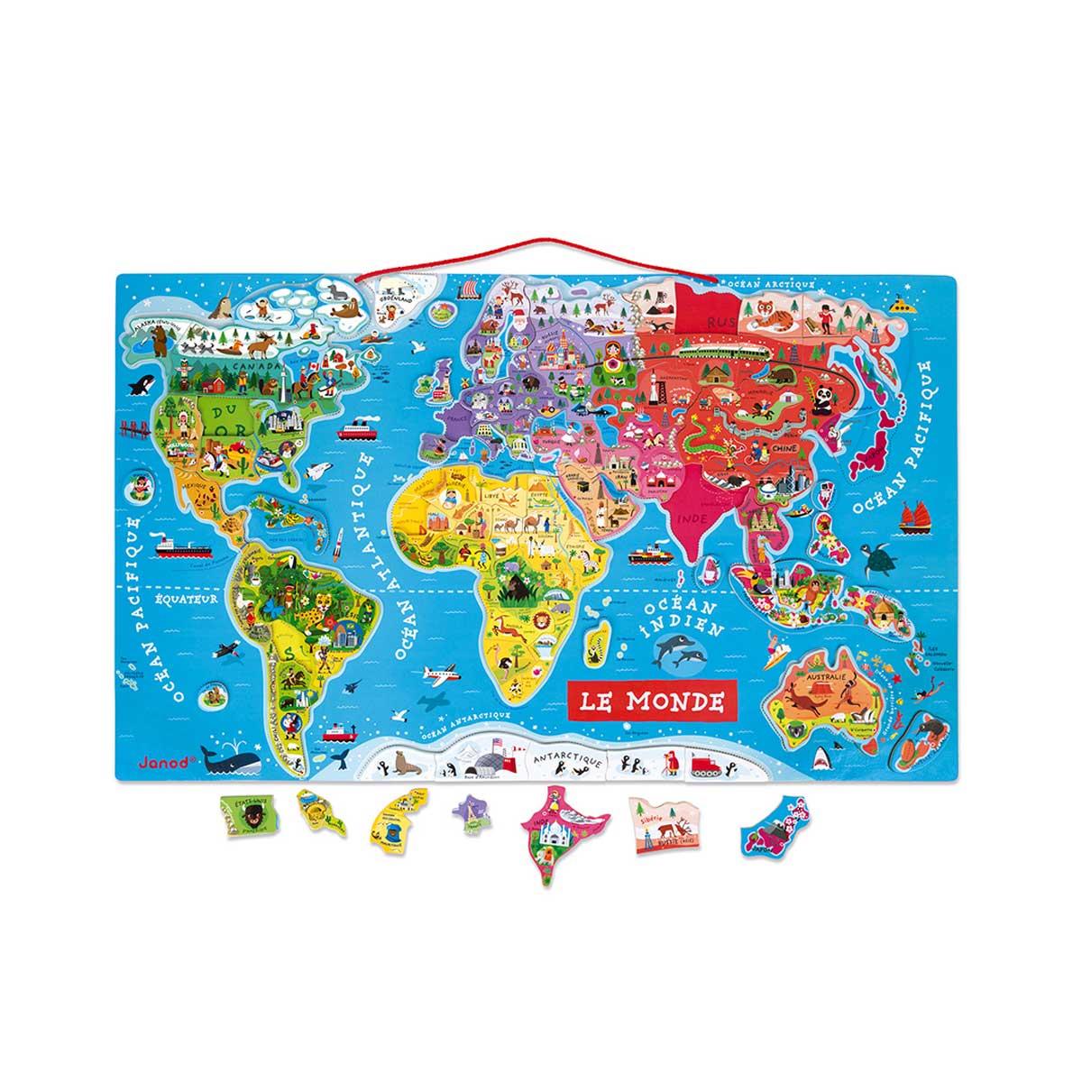 Carte Du Monde Magnétique dedans Puzzle Gratuit Enfant