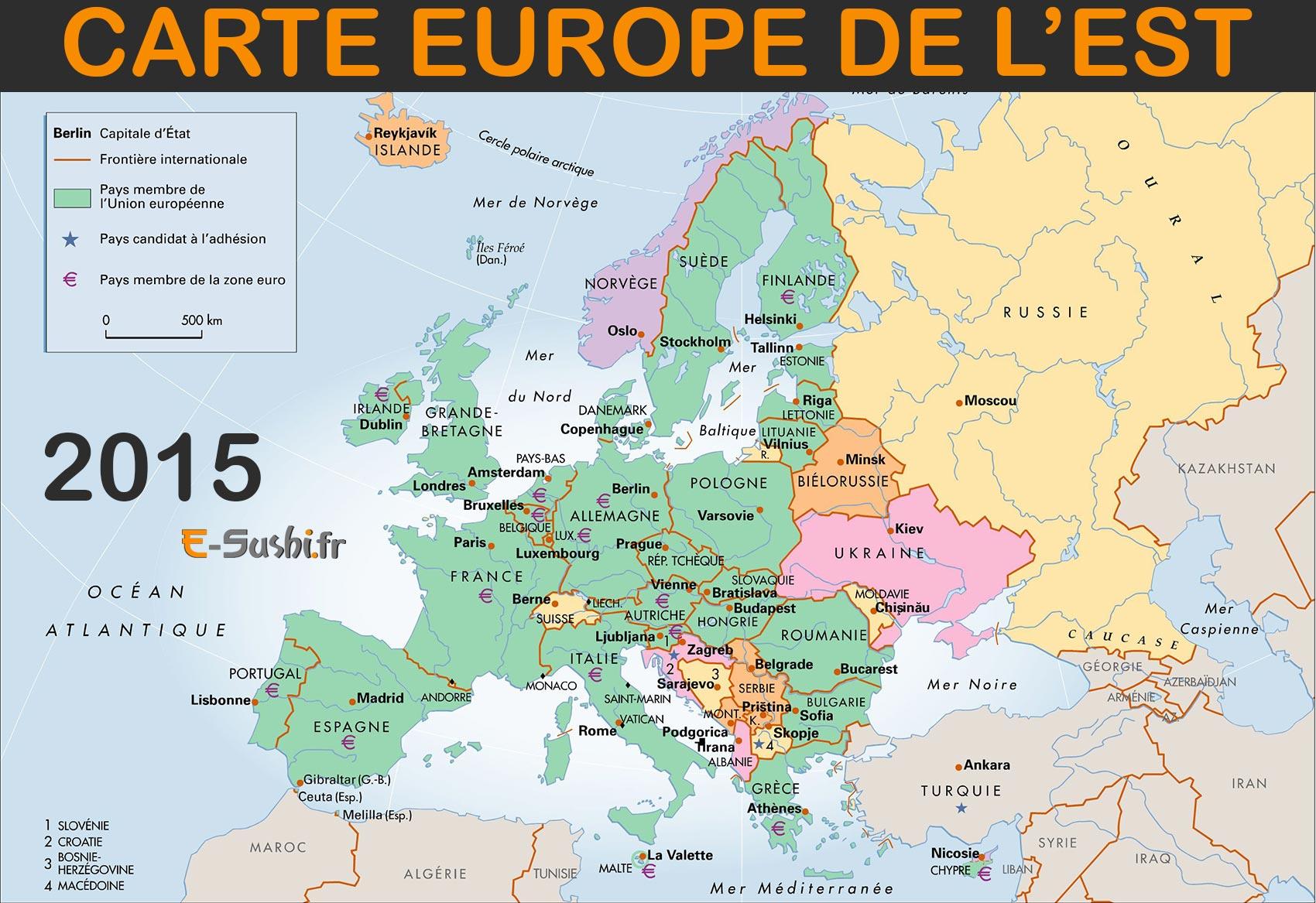 Carte Europe De L'est - Images Et Photos - Arts Et Voyages concernant Carte Europe Capitale