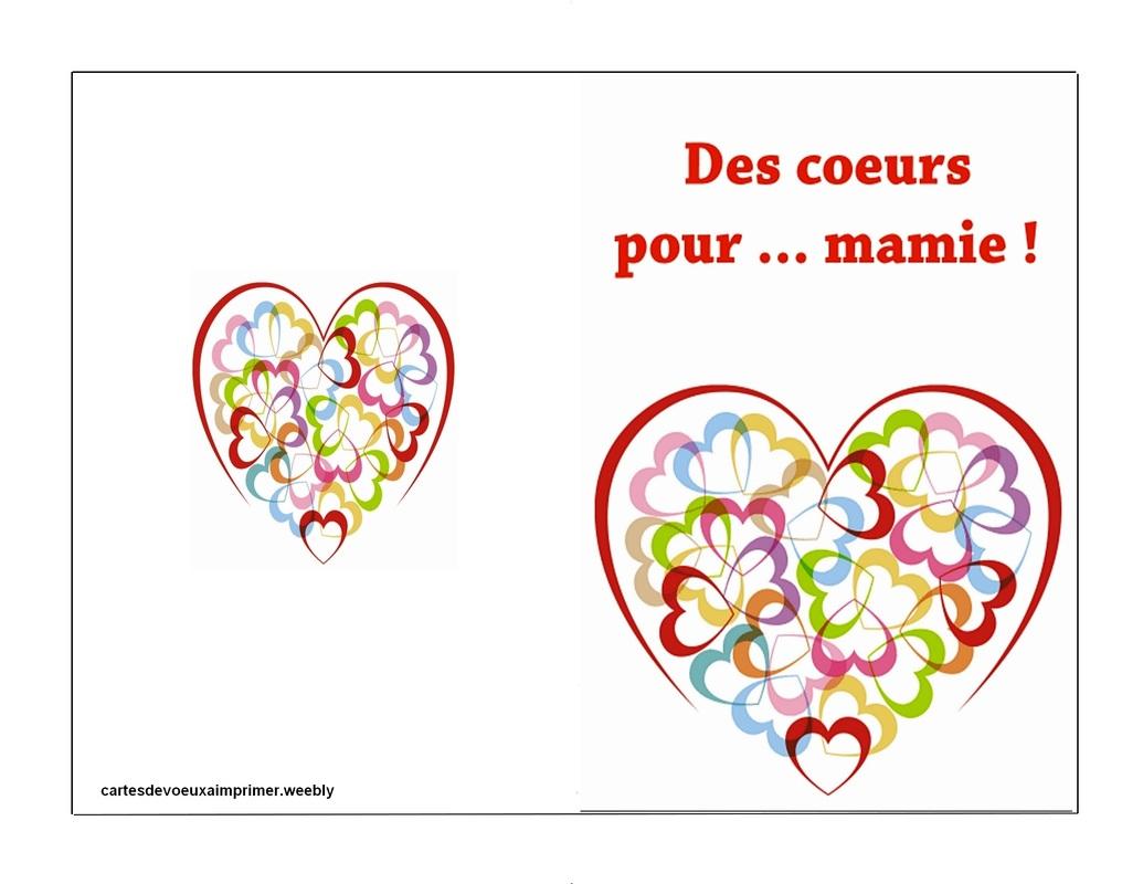 Carte Fête Des Grands-Mères À Imprimer Gratuite - Cartes De encequiconcerne Carte Bonne Fete Maman A Imprimer