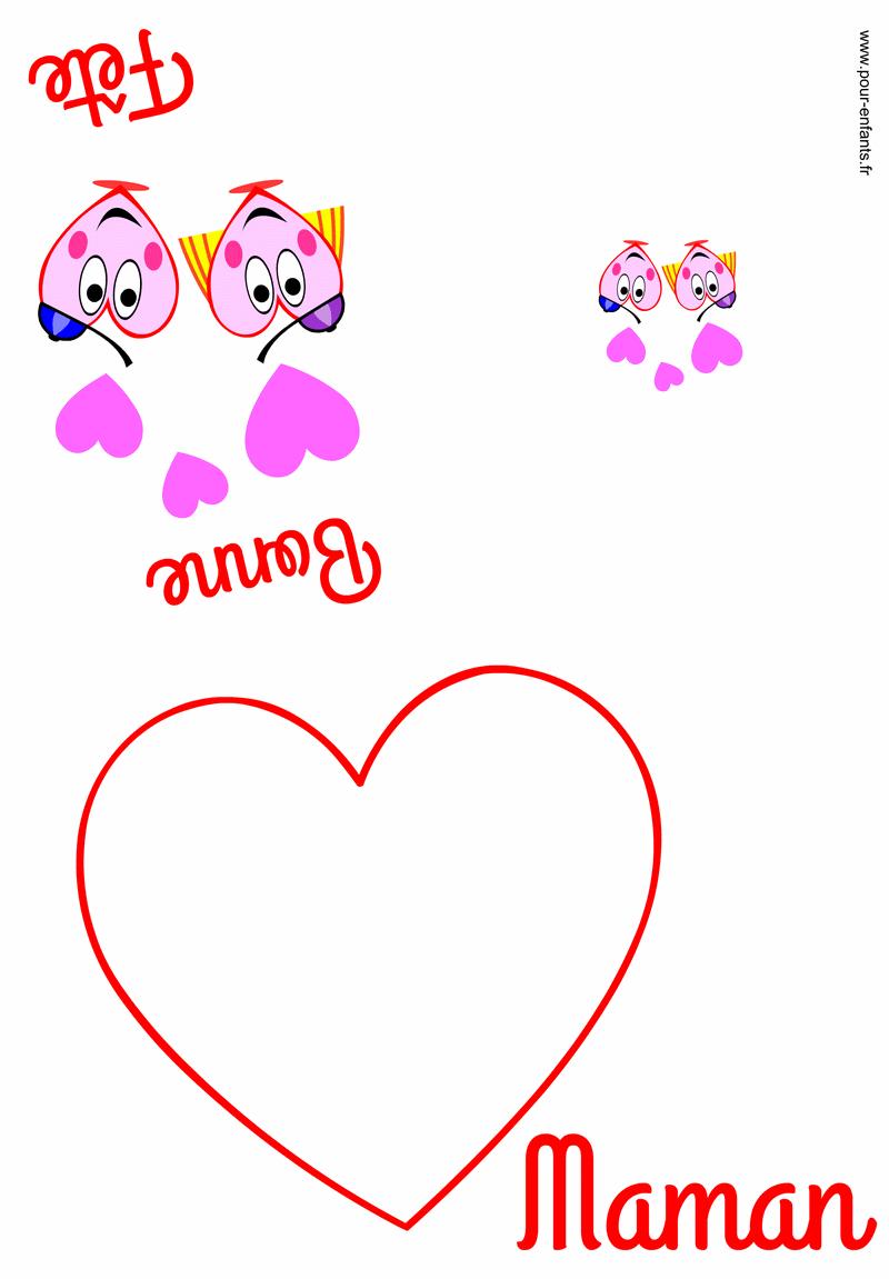 Carte Fete Des Mamans À Imprimer Fête Des Mères Faire Cartes à Carte Bonne Fete Maman A Imprimer