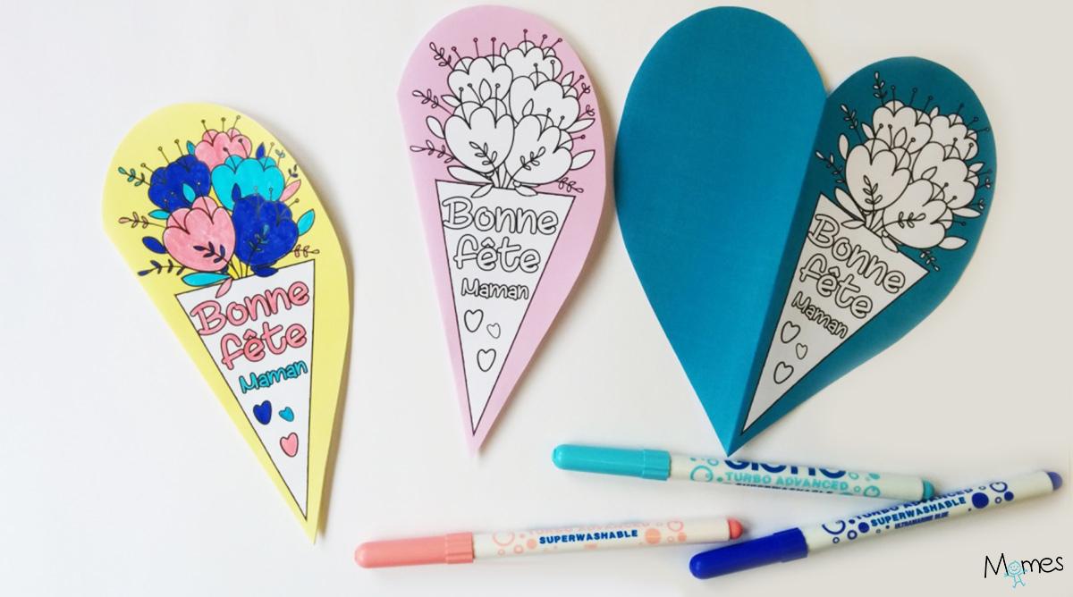 Carte Fête Des Mères À Imprimer - Momes destiné Carte Bonne Fete Maman A Imprimer