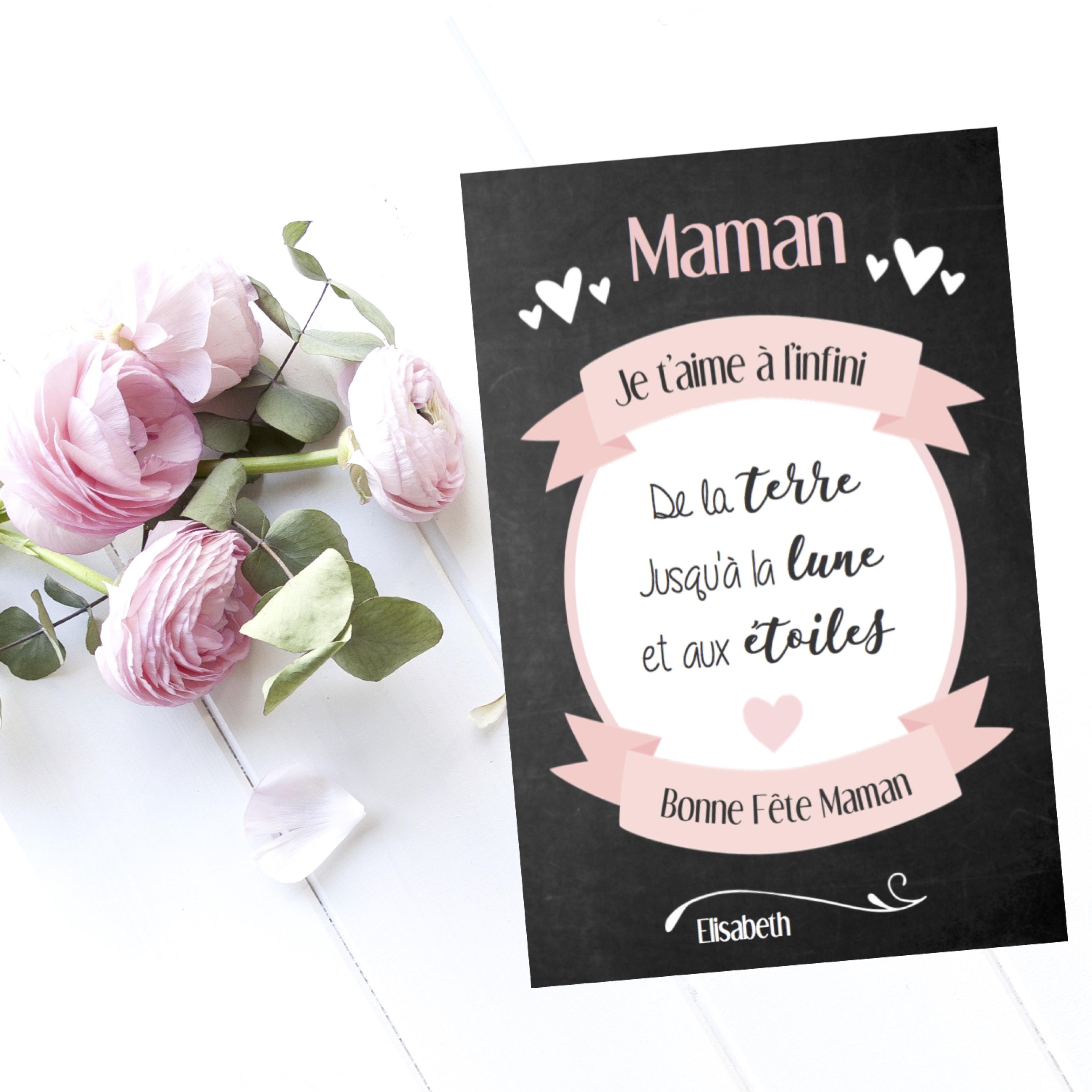 """Carte Fête Des Mères Collection """"infini"""" à Carte Bonne Fete Maman A Imprimer"""