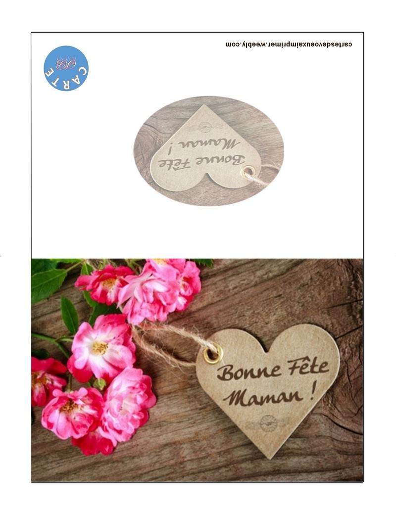 Carte Fête Des Mères Imprimer Gratuitement - Cartes De Voeux destiné Carte Bonne Fete Maman A Imprimer