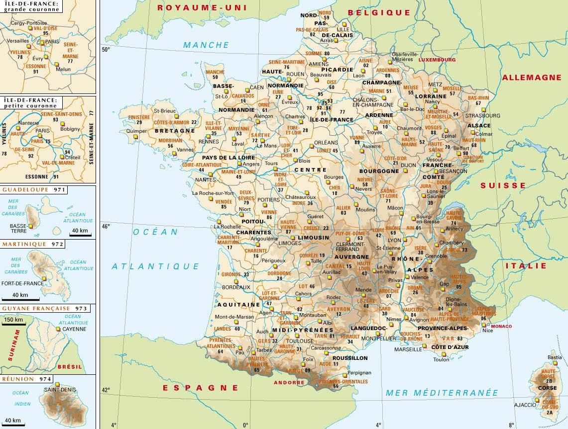 Carte France, Carte De France avec Carte De France Avec Département À Imprimer
