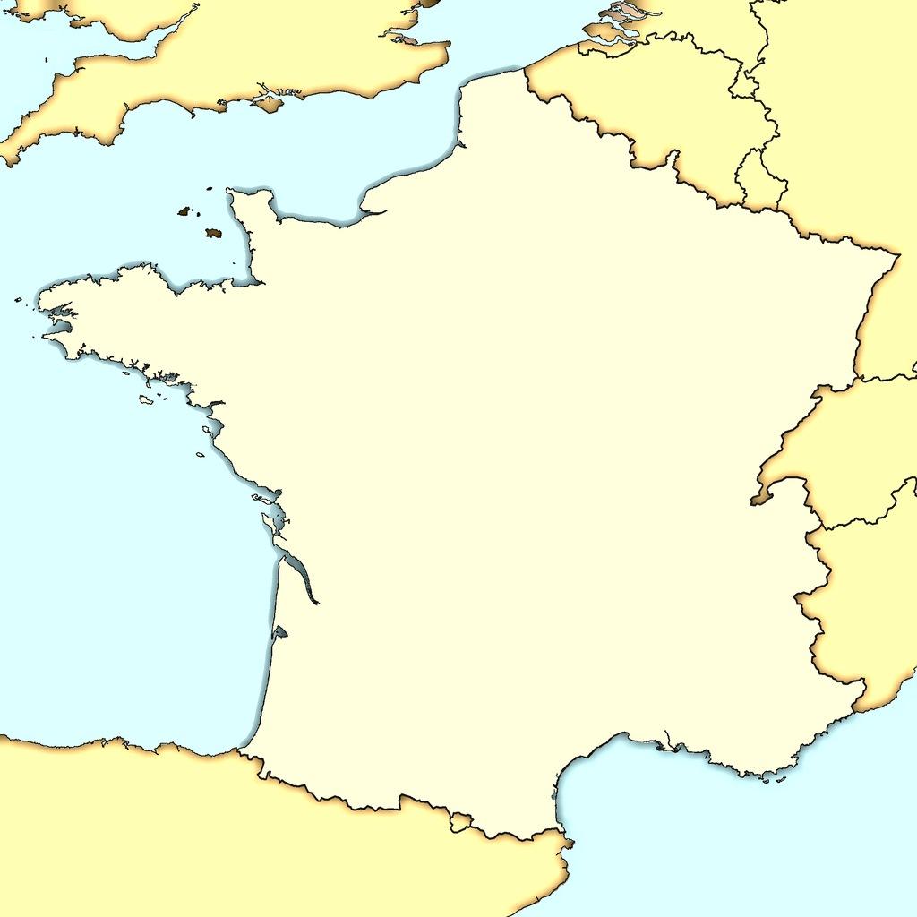 Carte France Vierge destiné Carte Des Régions Vierge