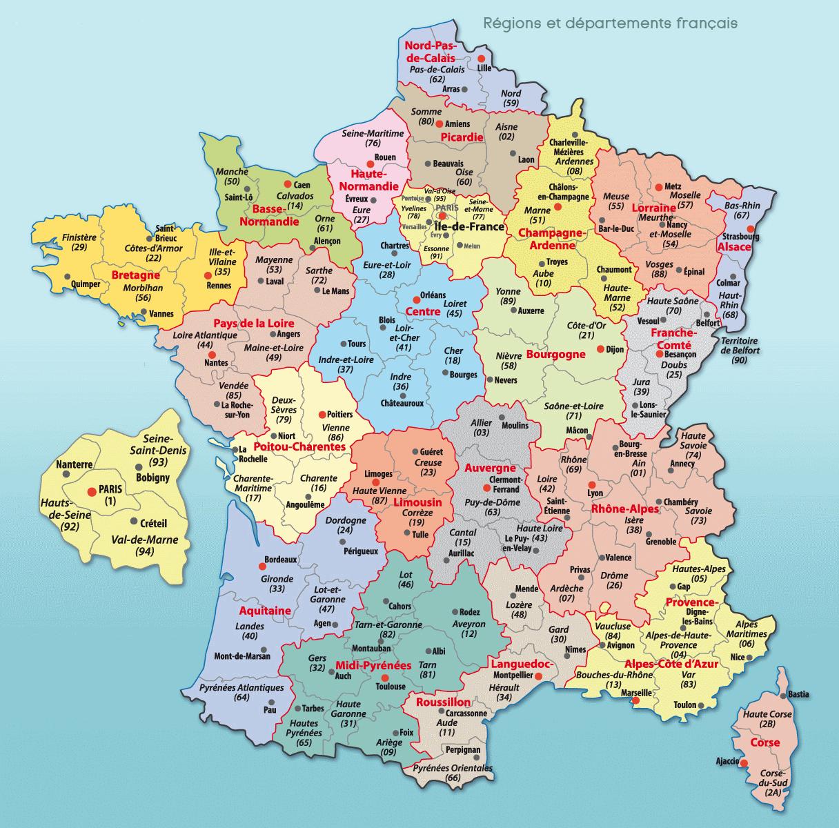 Carte France Villes : Carte Des Villes De France avec Imprimer Une Carte De France